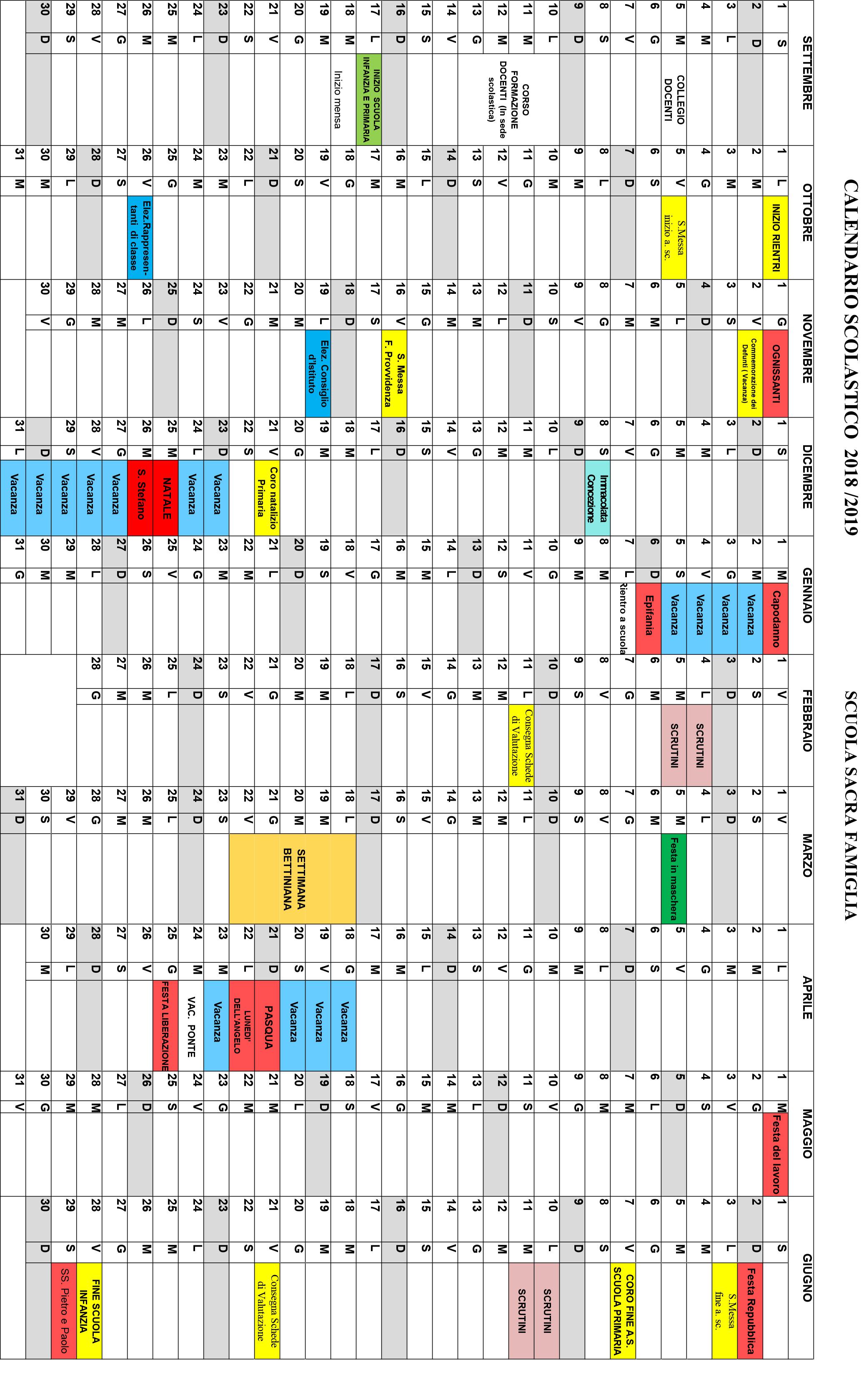 Calendario Scolastico Lazio 2020 17.Calendario Famiglia 2020